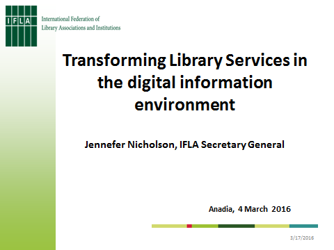Transforming library services in the digital information environment